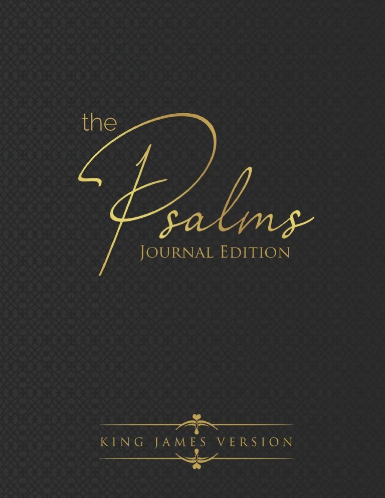 Cover of book The Psalms Journal Edition King James Version.
