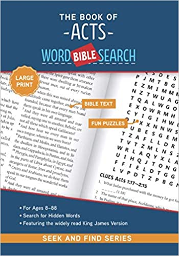 The cover of The Book of Acts: Bible Word Search (Seek and Find) - Large Print Edition