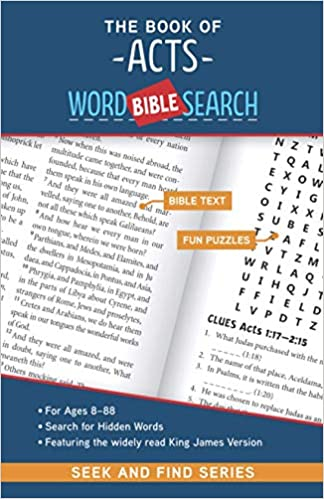 The cover of The Book of Acts: Bible Word Search (Seek and Find)