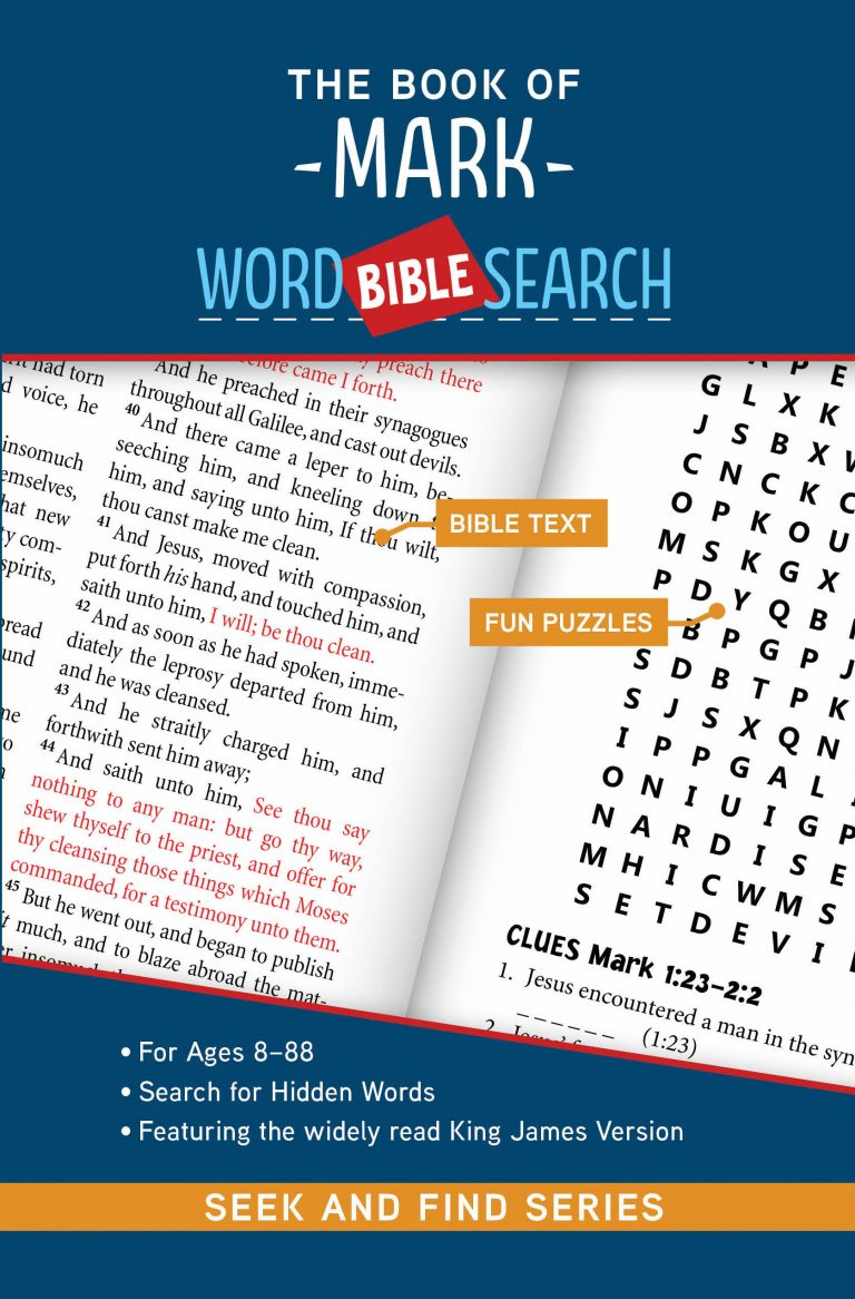 The cover of The Book of Mark: Bible Word Search (Seek and Find)