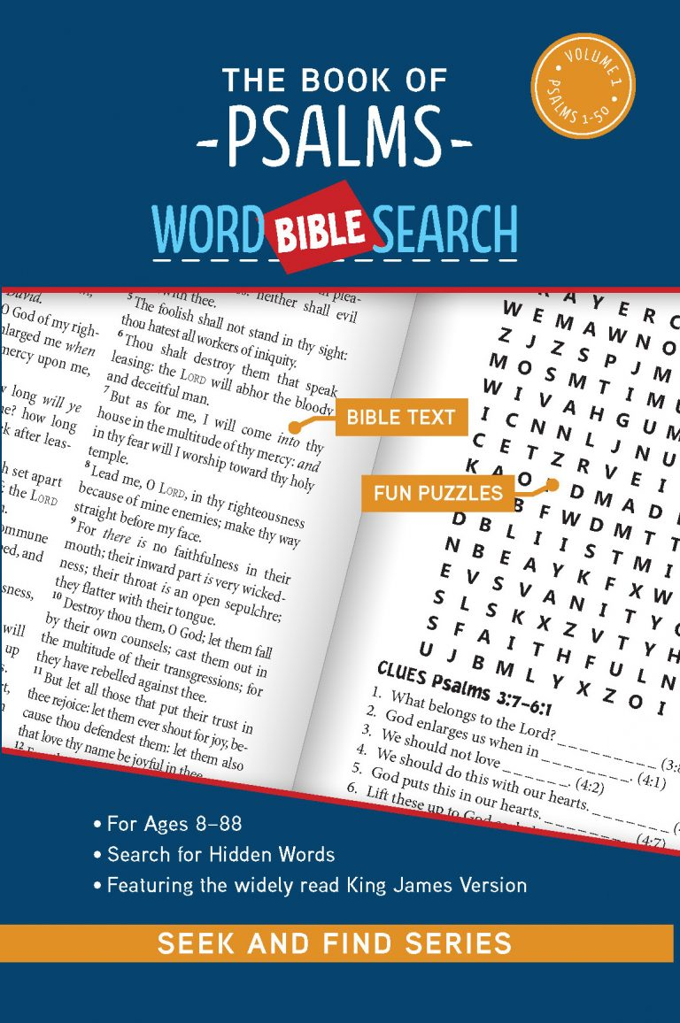 Cover for The Book of Psalms: Bible Word Search (Seek and Find).