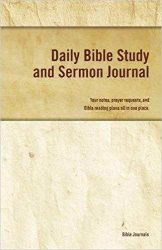 The cover of Daily Bible Study and Sermon Journal